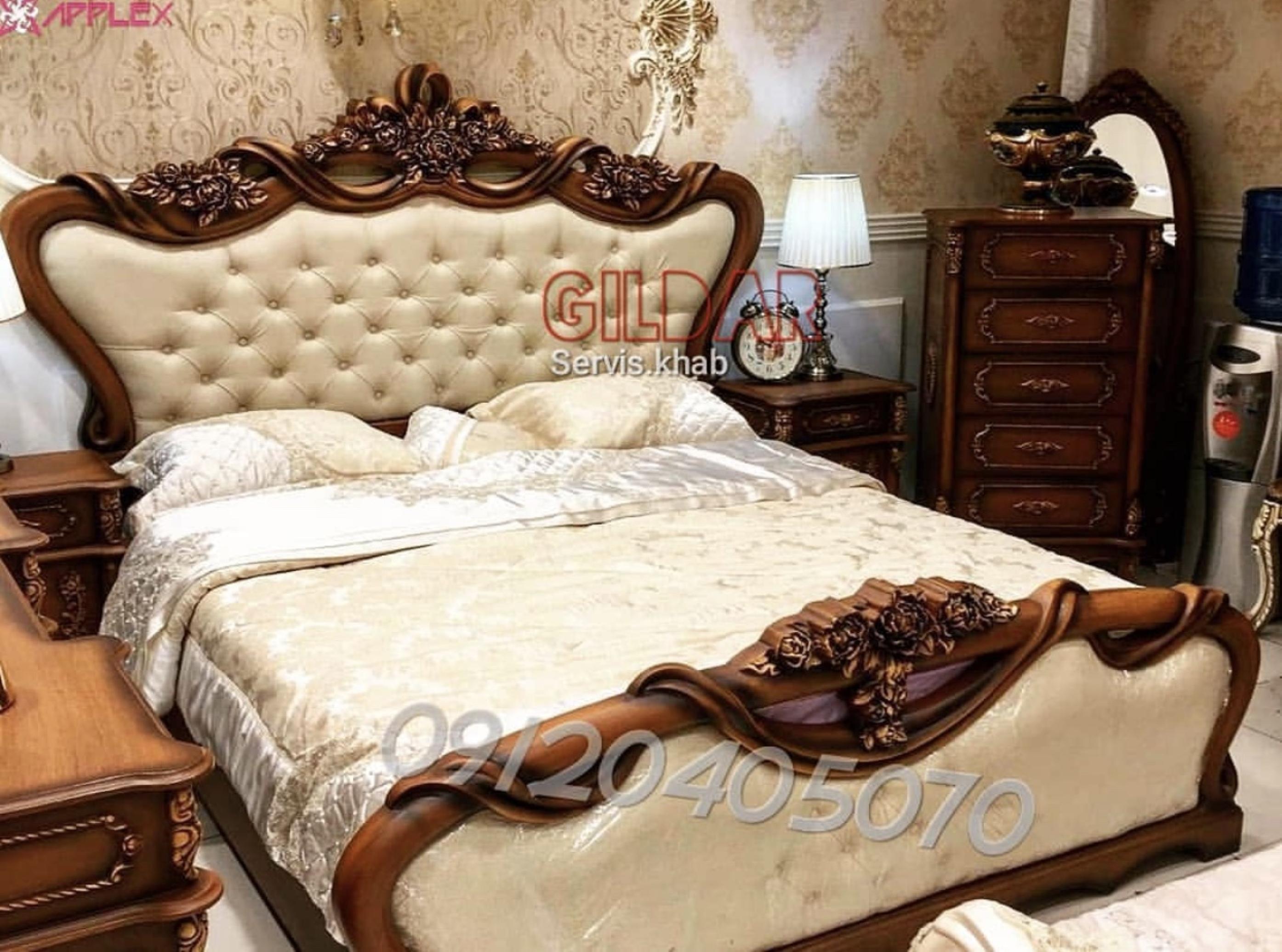 قیمت سرویس خواب کلاسیک مدل فِندی