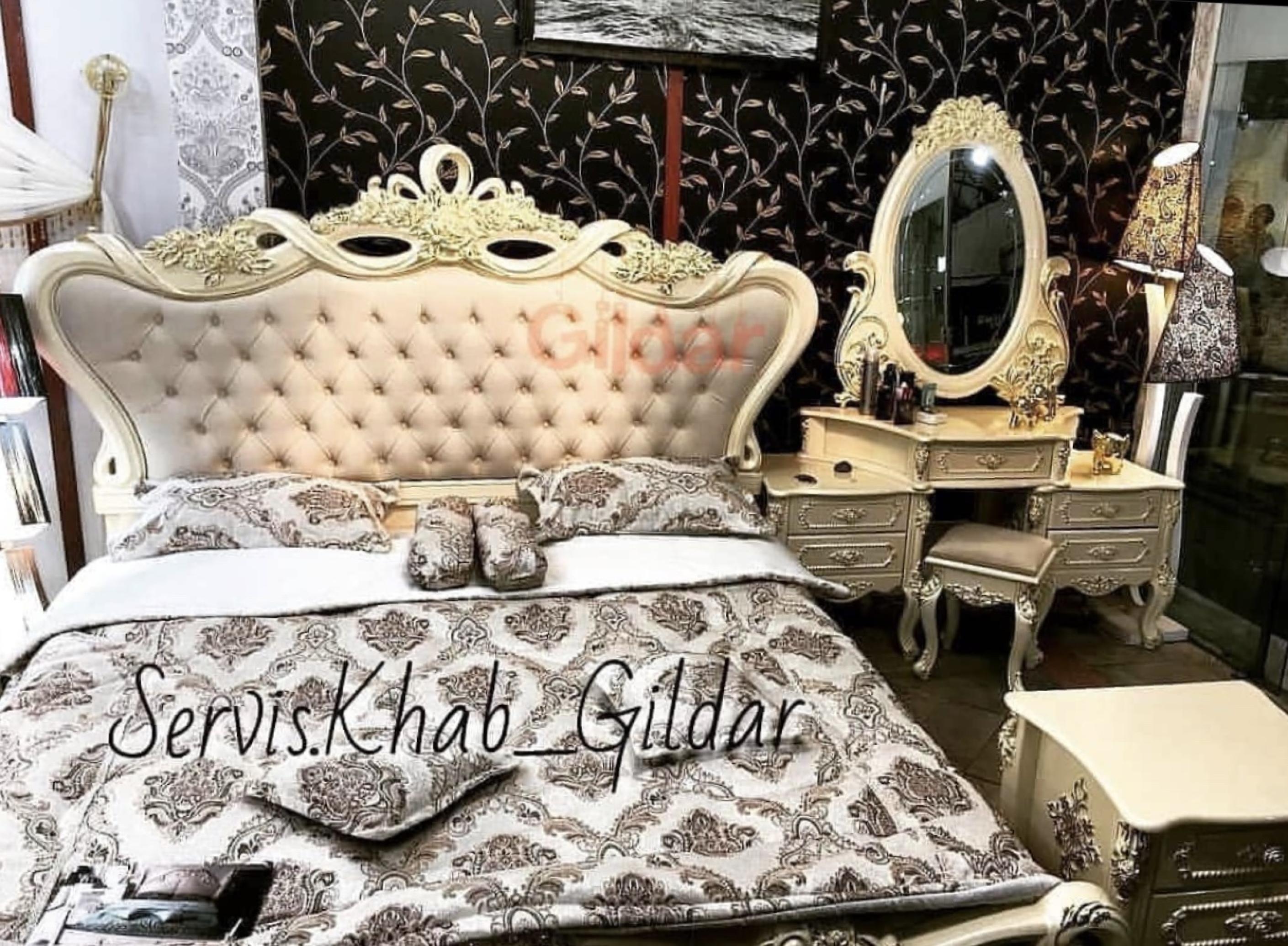 خرید سرویس خواب کلاسیک مدل فِندی